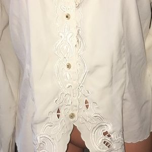Claudia Richard Tops - Embroidered Claudia Richards Silky business Top 10